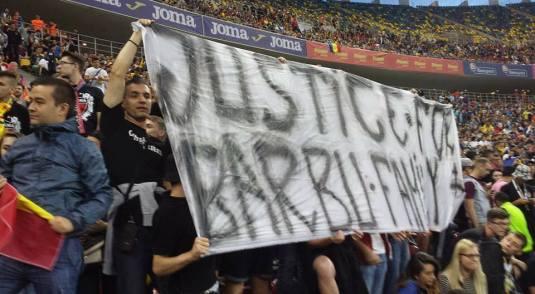 Justice for Barbu family meciul de fotbal Romania - Georgia