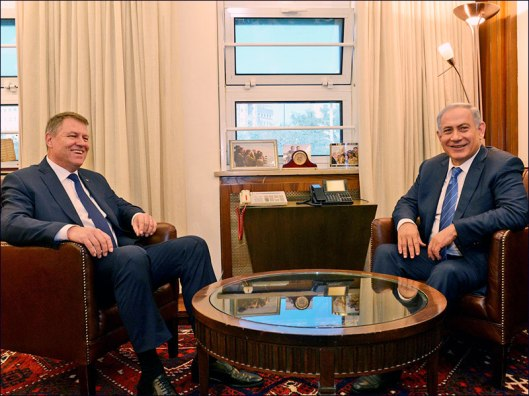 PM Benjamin Netanyahu with Romanian President Klaus Werner Iohannis